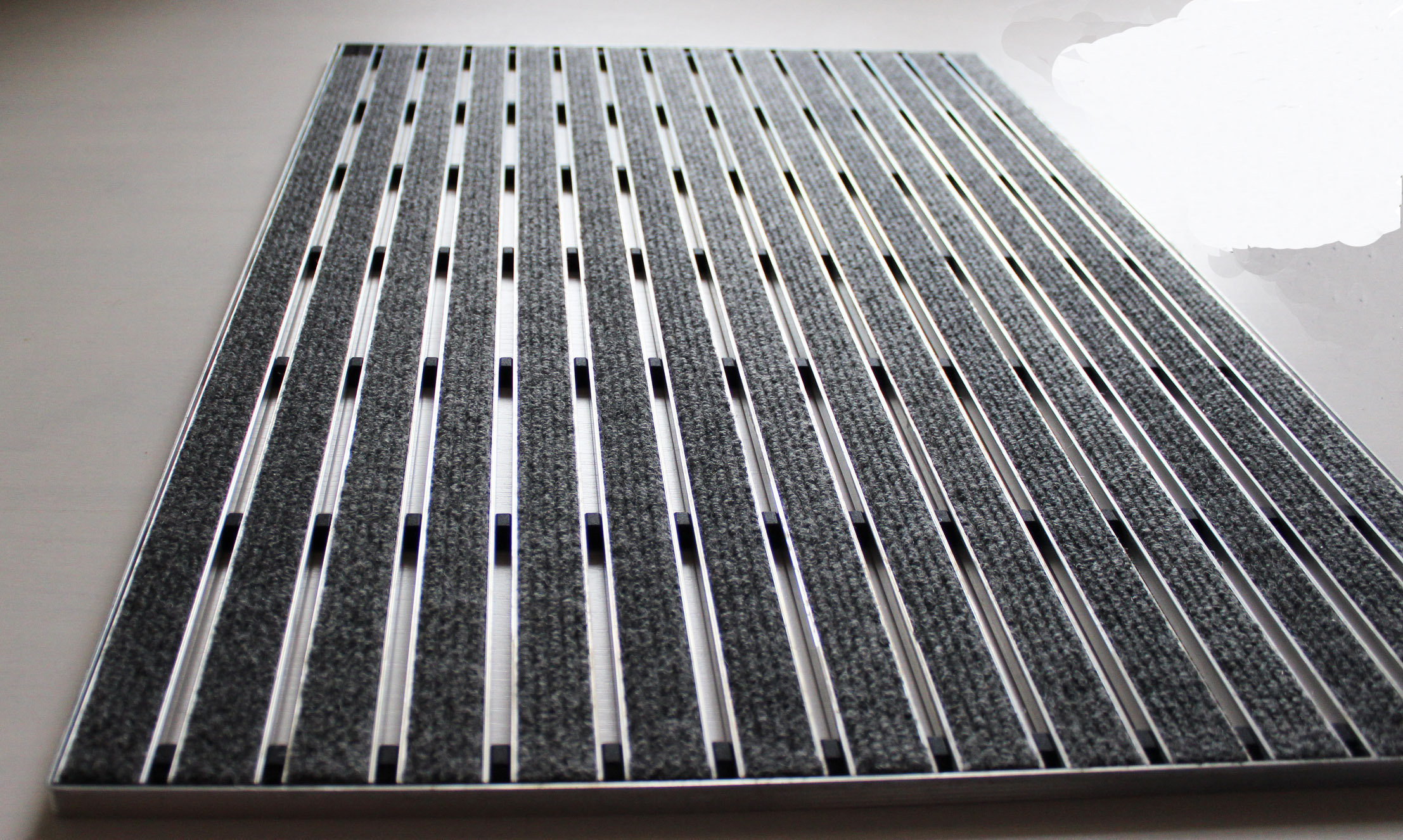 aco self indoor schuhabstreifer matte 75 x 50 grau abtreter fu matte 37256 75x50 ebay. Black Bedroom Furniture Sets. Home Design Ideas