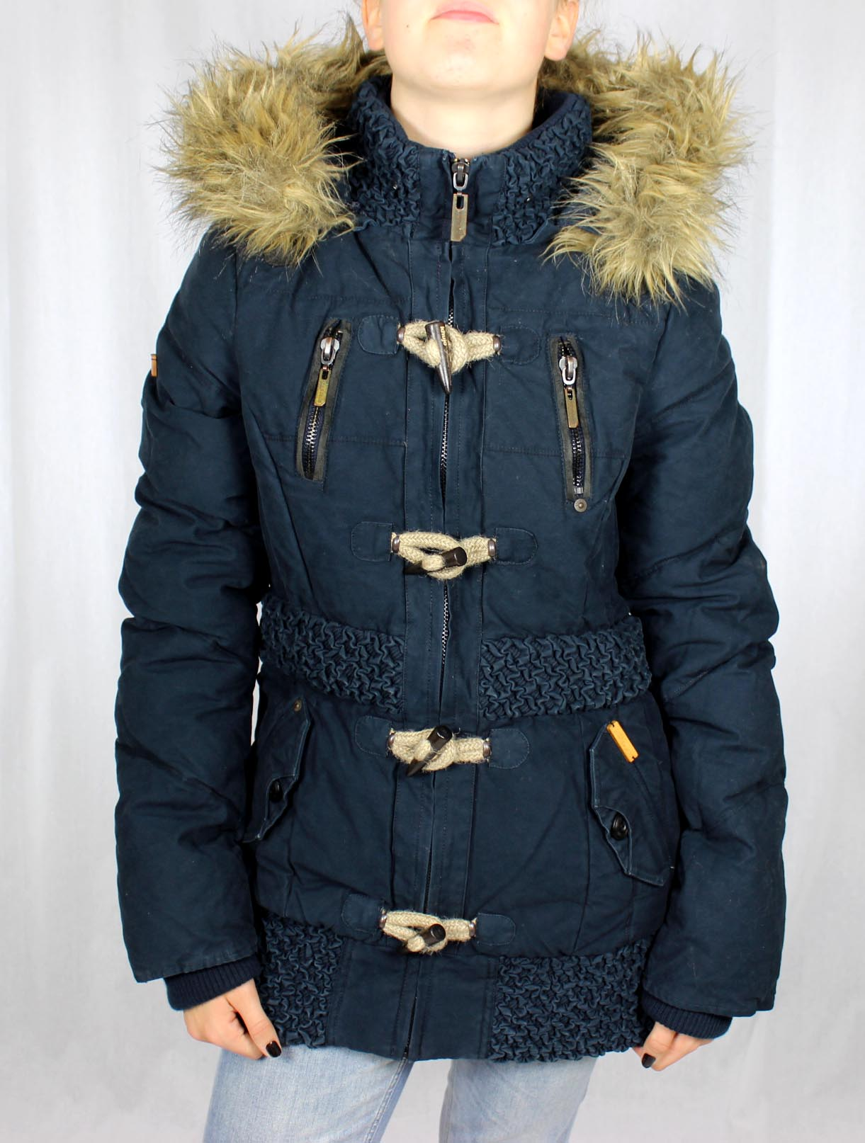 khujo damen winterjacke dunkelblau tilt jacke girls winter navy parka 1288jk123 ebay. Black Bedroom Furniture Sets. Home Design Ideas